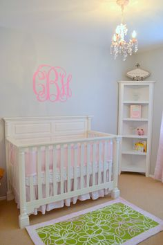 Some form of over the crib monogramming will be occuring....