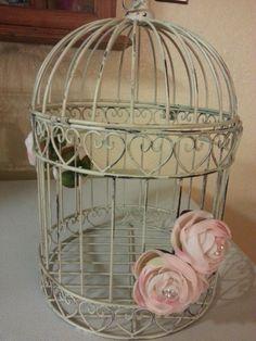 Distressed Birdcage  card box, or centerpiece $25.00