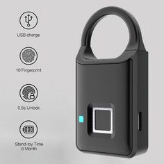 (eBay Ad Url) Fingerprint Lock Smart Keyless Anti-Theft Padlock Biometric Electronic Lock USB