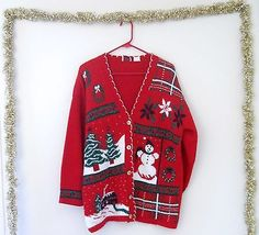 Ugly Christmas Sweater Women XL 1X Men Lg Cardigan Plus Size Ladies Nutcracker