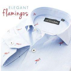 Elegance sparkle and sophistication - all this and more!  Shop the Flamingo shirt at 16Stitches.com  #menswear #mensstyle #mensfashion #summer #style #fashion #trend #trendy #shirts #luxury #formal #fb #formals #formalwear #classy #classic #classymen #dapper #dappermen #instalike #instagood #thursday
