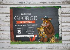 The Gruffalo Birthday Party Invitation, Digital Printable The Gruffalo Invite…