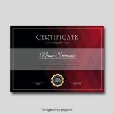 Dark Fashion Personal Certificate of Honor