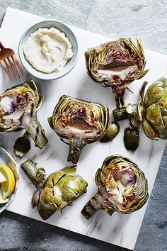 Charred Artichokes With Lemon Aïoli - 15 Amazing Barbecue Recipes For Vegetarians - Photos
