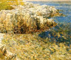 """Isle of Shoals"", Childe Hassam, 1907, Oil on canvas, 24.5 x 30"", Portland Art Museum."