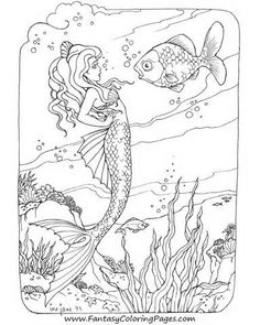 Stunning Mermaid Coloring Pages Online