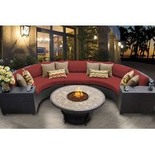 2400 Barbados 6 Piece Fire Pit Seating Group with Cushion