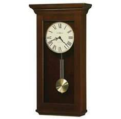 Howard Miller Continental Grandfather Clock Style Chiming Wall Clock with Pendulum, Charming, Vintage, Old World, Classic Design Chiming Wall Clocks, Howard Miller Wall Clock, Pendulum Wall Clock, Window Curtain Rods, Wholesale Furniture, Home Wall Decor, Home Decor Outlet, 5 D, Paisley