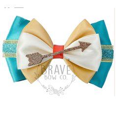 Princess Meridia or Pocahantas - Brave Inspired Ribbon Bow