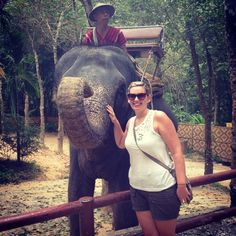 Spent yesterday with this beautiful elephant at the best nature safari I've been to  amazing experience  #elephanttrekking #Thailand #Phuket #siamsafari by crolls24