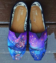 Hand Painted Disney Tangled Lanterns TOMS by AsteriAShoes on Etsy
