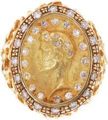Elvis Presleys Gold and Diamond Cameo Ring