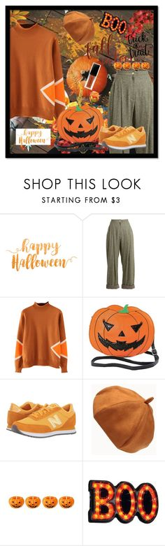 """HalloweeN [pumpkin]"" by ronny22 ❤ liked on Polyvore featuring Natasha Zinko, New Balance Classics and vintage"