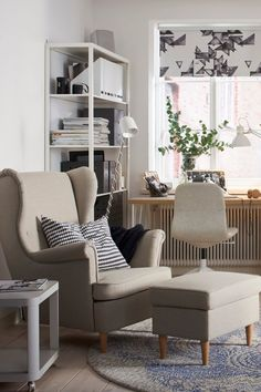 bringing new life to an old favorite the ikea strandmon wing chair has the same - Ikea Living Room