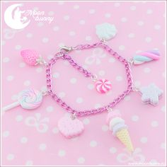 ~ Candy mix Bracelet ~  Bracelet length:16 cm + 3 cm (extend chain)  We've made our best to portray the colors of jewelry as accurately as possible, however colors will vary with individual monitors and subject to individual opinion.