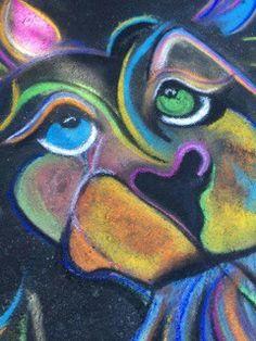 Chalk lion...by nbjarts