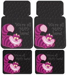 Cheshire Cat From Alice In Wonderland car mats - I totally have these in my truck :)