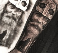 Age Fighter Tattoo Portrait  - http://tattootodesign.com/age-fighter-tattoo-portrait/  |  #Tattoo, #Tattooed, #Tattoos