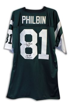 87f55d4d8da AAA Sports Memorabilia LLC - Gerry Philbin New York Jets Autographed Green  Throwback Jersey Inscribed