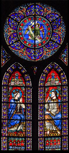 Stained glass from the apse of Notre Dame de Paris.