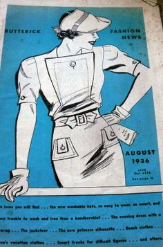 Butterick 6935 in Butterick Fashion News, August 1936