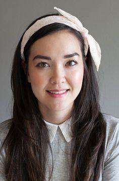 Blushing Beauty Lace Headband. Cute lace headband. Oversized pink bow hairband. | Idol Collective