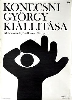 Gyorgy Konecsni, Exhibition poster, 1968
