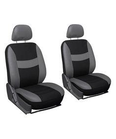 Gray & Black Bucket Front Car Seat Cover Set #zulily #zulilyfinds