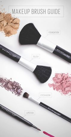 A huge part of achieving a flawless makeup look is blending, blending, blending…and choosing the best brush for the job. Here's a handy trick from Maybelline to keep them straight the next time you blush, blend or line your lips: the more precise the job, Kiss Makeup, Love Makeup, Hair Makeup, Makeup Eyebrows, Gorgeous Makeup, Makeup Geek, All Things Beauty, Beauty Make Up, Beauty Tips