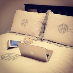 This looks like my bed every night ... except add my iphone as well. Lol