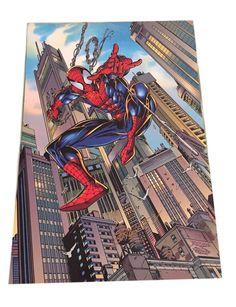 "Marvel Comics Spider-Man Hard Card Stock 12 1/2"" Tall Action Poster Bagley"