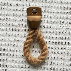 Rope + Metal Knob - Jute | west elm