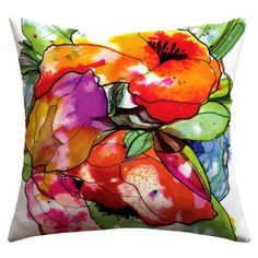 DENY Designs CayenaBlanca Big 2 Outdoor Throw Pillow 16 x 16 >>> See this great product.