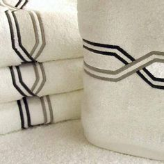 Four Cross Bath Towels Luxury Bed Sheets, Bath Towels, Monogram, Straight Stitch, Embroidered Towels, Towel, Towels, Monograms