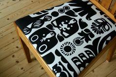 Upholster your old chairs and freshen up the look of your home!  Tuunaa vanhoista tuoleista trendikkäät verhoilemalla ne uudelleen. Voit päivittää asuntosi sisustusta näppärästi ja muuttaa sitä vaikka kausittain! Ohjeet: Kiharoiden Kätköissä
