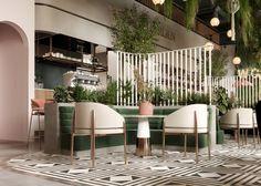 VWArtclub - WHITE GARDEN LOUNGE Modern Restaurant Design, Rustic Restaurant, Luxury Restaurant, Outdoor Restaurant, Restaurant Ideas, Interior Design Photography, Restaurant Interior Design, Modern Interior Design, Lounge Design