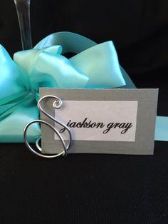 Monogram place card holder wedding table escort by SoCalWeddingGal, $5.00