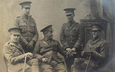 A group of Company Officers, most likely to the from either RWF. Group Of Companies, World War One, North Wales, Warriors, World War I, Military History