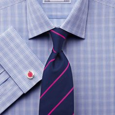 Sky Prince of Wales check classic fit shirt Charles Tyrwhitt, Fitted Dress Shirts, Prince Of Wales, Cool Walls, Workout Shirts, Dapper, Classic, Fitness, Gentleman