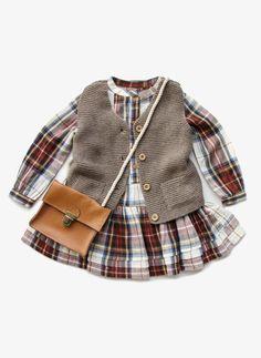 Arsene et Les Pipelettes Girls Knitted Vest-11 Main