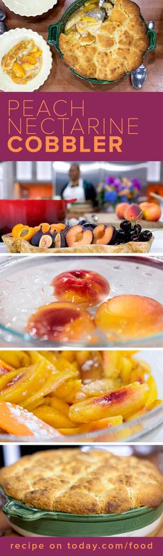 Make this perfect summer dessert: Peach and Nectarine Cobbler! Great for any end-of-summer barbecue or event!