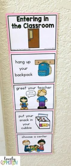 Help your Students Know What You Expect with Procedure Cards — Lovely Commotion Preschool Activities , Games and Resources - Colorful Candies Kindergarten 2020 Preschool Classroom Setup, Kindergarten Classroom Management, Classroom Organisation, Classroom Setting, Special Education Classroom, Future Classroom, Classroom Community, Preschool Behavior Management, Pre School Classroom Ideas