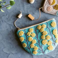 Swap your sewing machine for a punch needle and learn how to make this beautiful pouch by Ell Wang with her tutorial in issue 59 – and find more projects in her inspiring new book Punch Needle Sewing Magazines, Punch Needle Patterns, Fox Pattern, Crafts Beautiful, Needle Book, Diy Embroidery, Rug Hooking, Weaving, Textiles