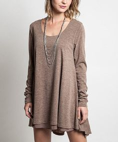 Another great find on #zulily! Mocha Flared Sweater by Elegant Apparel #zulilyfinds