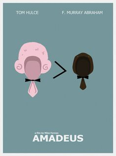 Another minimal movie poster.) This turn is for one of my favorite movies of all time, Amadeus. Films Cinema, Cinema Posters, Minimal Movie Posters, Minimal Poster, Great Films, Good Movies, Love Movie, Movie Tv, Poster Minimalista