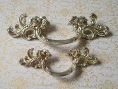 3 dresser pulls drawer pull handles antique silver cabinet handles pulls knobs door handle vintage furniture hardware 64 76 mm the price is