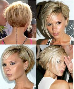 Coupe carré court plongeant Coupe Victoria beckham