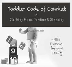 The Rules of toddler-ingdom - 6 rules in each empire of clothes, food, play & sleep. A free printable for your sanity to understand your toddler's code of conduct.