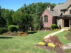 Beautiful landscape installation to accent this craftsman style home