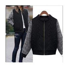 De grande porte das mulheres 2016 novas roupas de inverno quente grossa de veludo de manga comprida uniforme de beisebol feminino casaco curto parágrafo solto alishoppbrasil